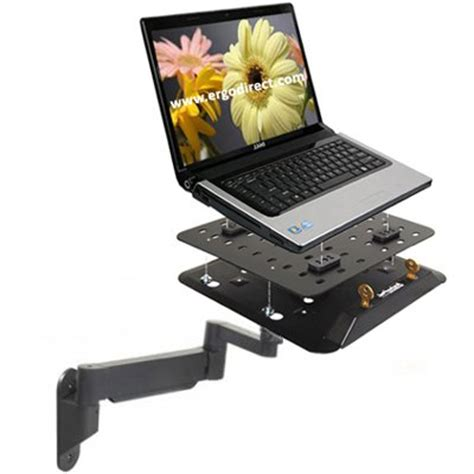 Securing Laptop To Desk by Secure Notebook Height Adjustable Wall Or Desk Mount Arm