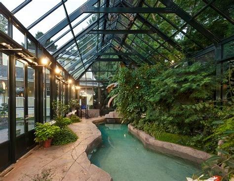 Sustainable House By The Pond Omg This Green House A Green House And Indoor Pool All In