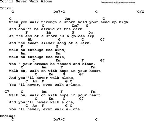 you ll never walk alone by elvis lyrics and chords