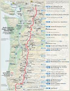 pacific crest trail oregon map take a hike map of the pacific crest trail