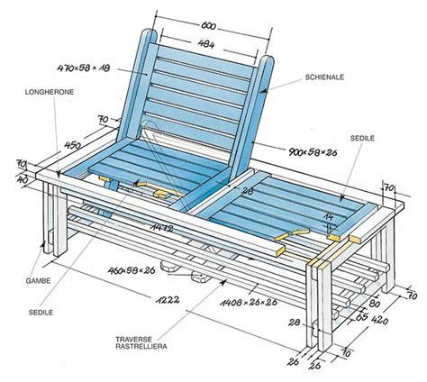 costruire una panchina in legno panca in legno fai da te modulabile costruzione passo