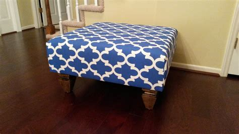 Blue Ottoman Coffee Table by Upholstered Ottoman Coffee Table Blue And White