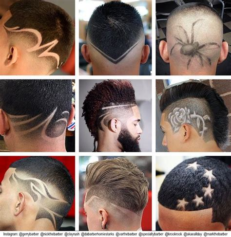 what are the names those designs in haircut 17 best images about barbers and fades specialist on