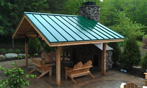 Backyard Ideas Roof Steel Roof Design With Metal Roof Patio Modern And Solid