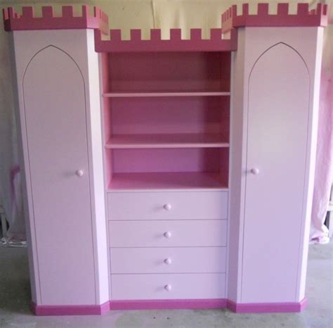 princess castle wardrobe bookshelf by kidspace playrooms