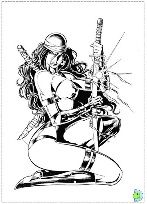 marvel elektra coloring pages free marvel daredevil coloring pages