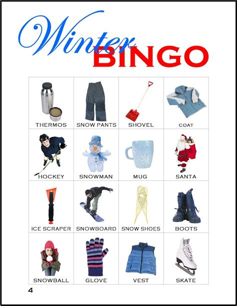 Winter Bingo Card Template by Winter Bingo Card 4 Makingfriendsmakingfriends