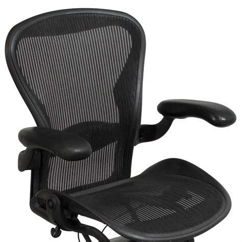 herman miller aeron chair herman miller aeron used size b leather arm task chair