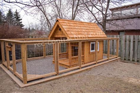 custom dog houses custom cedar dog house and kennel rcc contracting com pinterest