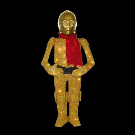 Home Depot Lawn Decorations by Kurt S Adler 36 In Wars C3po Yard Decor Zhdusw9151 The Home Depot