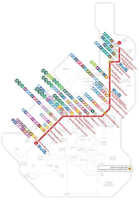 jerusalem light rail map israel maps