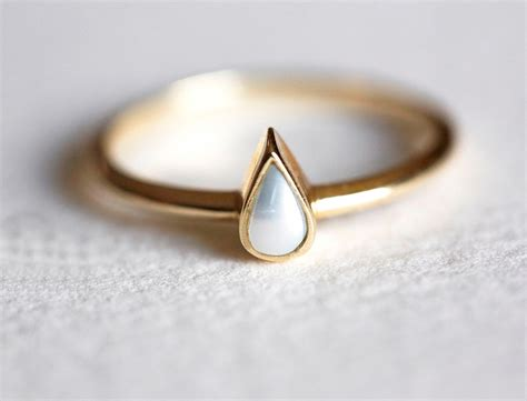Pearl Ring by Pearl Engagement Ring Gold Pearl Ring Pear Pearl Ring14k