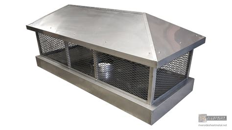 Chimney Protection - stainless steel custom 2 stage protection chimney cap ch021