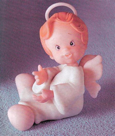 como hacer angelitos en porcelana fria angelito de porcelana fr 237 a en manualidades con porcelana