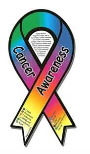 all cancer ribbon color cancer color awareness magnet cancer ribbon car magnet