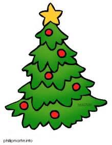 plain christmas tree cartoon