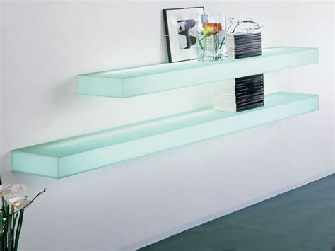 glass wall shelf modern glass wall shelves modern glass
