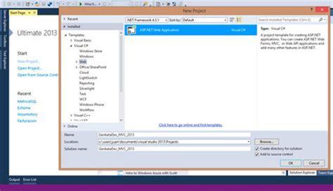 tutorial visual studio 2010 web application tutorial de iniciaci 243 n en asp net mvc con visual studio 2013