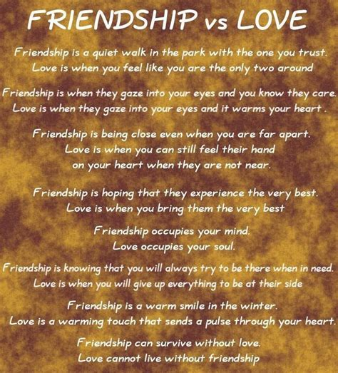 images of love friendship love and friendship friendship vs love