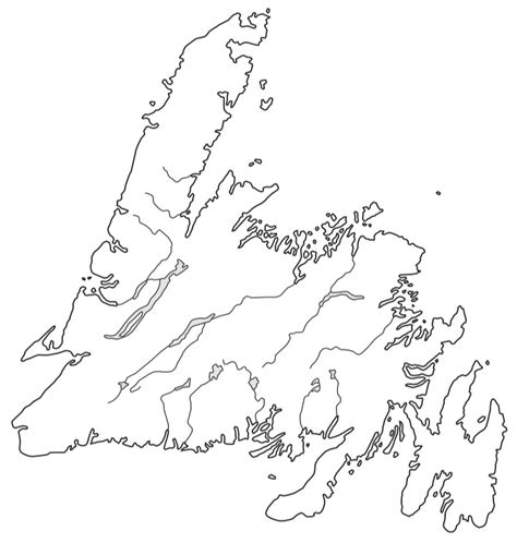 newfoundland map coloring page island outline drawing