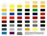 fiber color chart the color chart