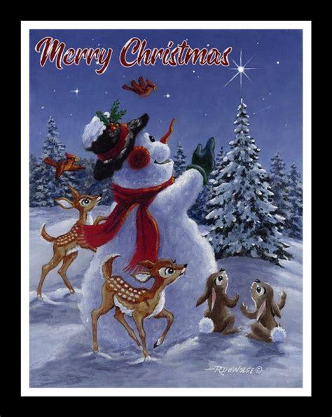 christmas snow man ecards