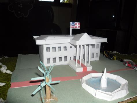 white house model usa white house handmade papercraft model yushan iceboy foundmyself