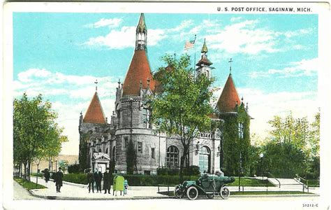 Saginaw Post Office by Post Office Photo Collection Post Collectors Club