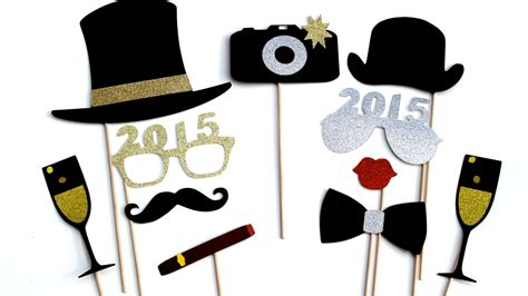 new year photo booth props 2015 new years photo booth props silver and by
