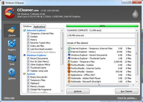 ccleaner release notes ccleaner v3 00 1303 released for download legit reviews