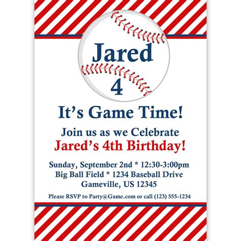 Baseball Party Invitations Party Invitations Templates Baseball Invitation Template