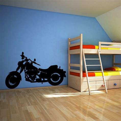 Wall Sticker Harley Davidson 02 harley davidson motorbike chopper vinyl wall sticker decal ebay