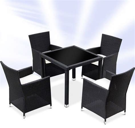 Black Table And Chairs Set by Rattan Dining Table And 4 Chairs Set Black