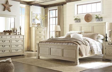 bolanburg white louvered panel bedroom set  ashley