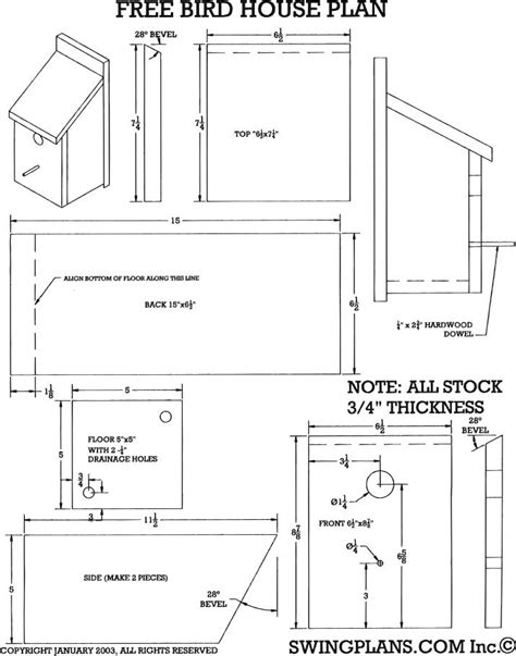 free house blueprints and plans bird house plans to download pdf plans bluebird house