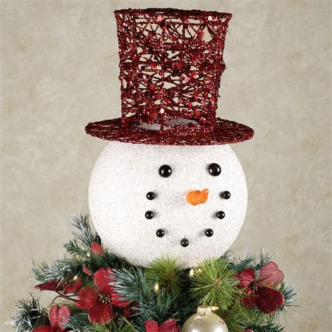 snowman head tree topper white christmas pinterest