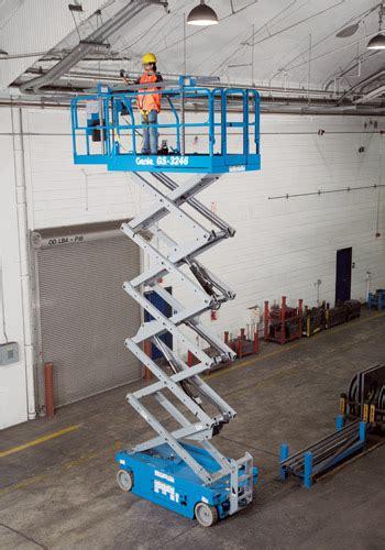 Bor Auger 10m 32 Scissor Lift Genie 3246 Rental Works Greensboro