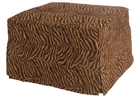 brown zebra ottoman ottoman with brown zebra slipcover castro convertibles