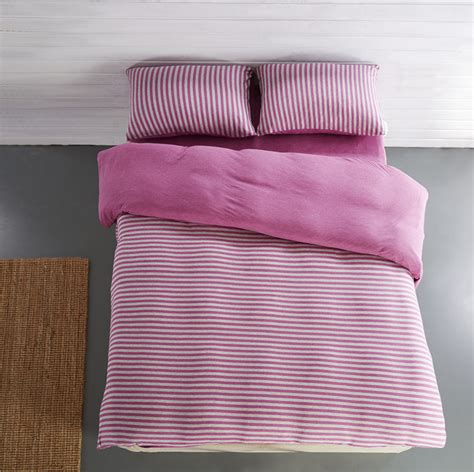 High Quality Cotton Duvet Covers high quality 100 cotton knitted fabric stripe duvet covers bedding sets duvet covers sets