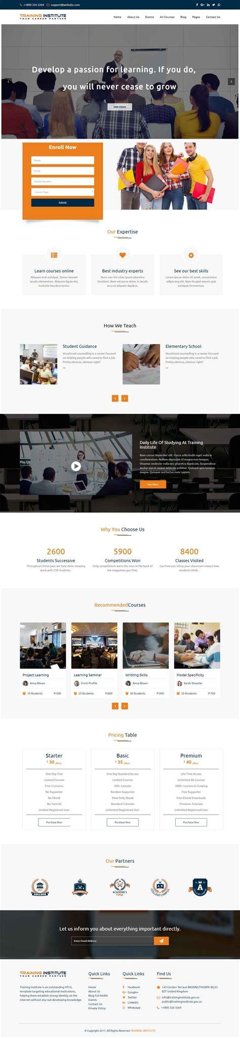 theme for education seminar education training institute wordpress theme for school