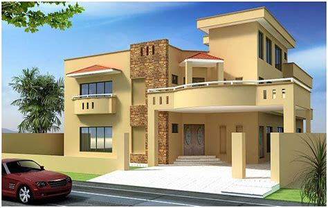 pakistani new home designs exterior views indian house kanal 10 marla plan 3d front