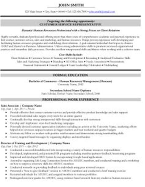 Human Resources Representative Sle Resume by 1000 Images About Human Resources Hr Resume Templates Sles On Resume