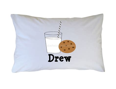 Milk Pillows by Personalized Cookies And Milk Pillow For Adults