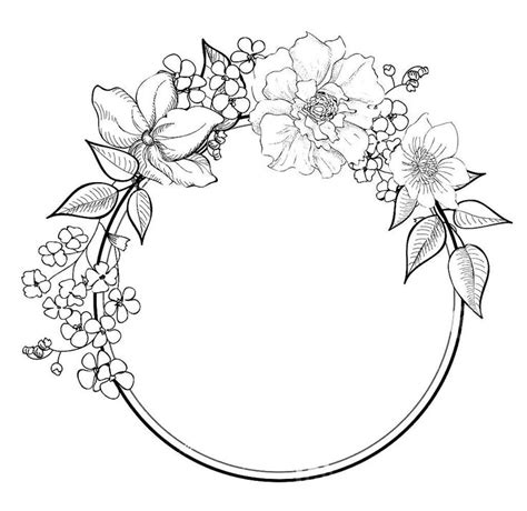 rose border coloring page 841 best wreath images on pinterest tags embroidery and