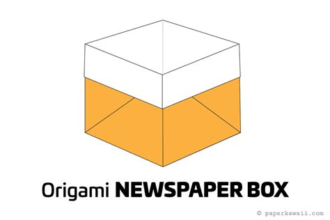 How To Make A Large Origami Box - easy origami newspaper box tutorial