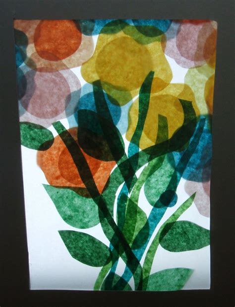 Tissue Paper Stained Glass Craft - 7 best collage tissue paper images on tissue