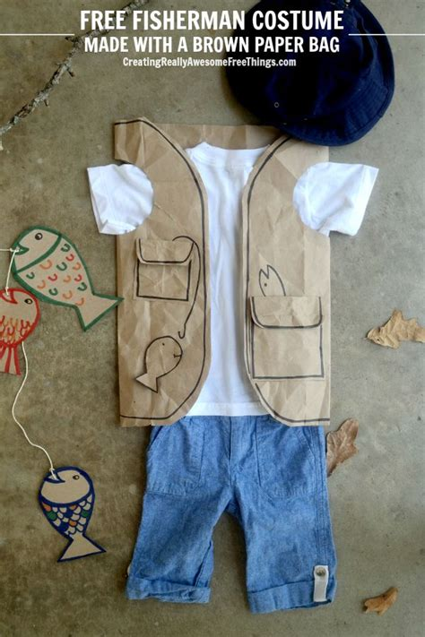How To Make A Paper Bag Vest - easy fisherman costume c r a f t