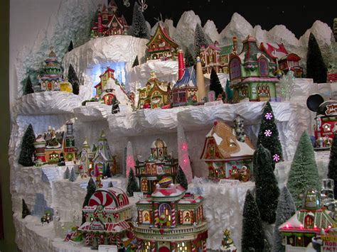 images of christmas village displays north pole showcase displays