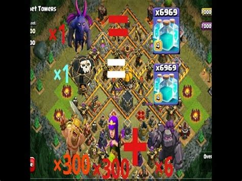 Kaos Coc Baloonion Minion coc minion and balloon or archer and barbarian with golem clash of clan0 troll attack