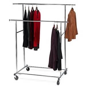 buy dual bar adjustable garment rack from bed bath beyond